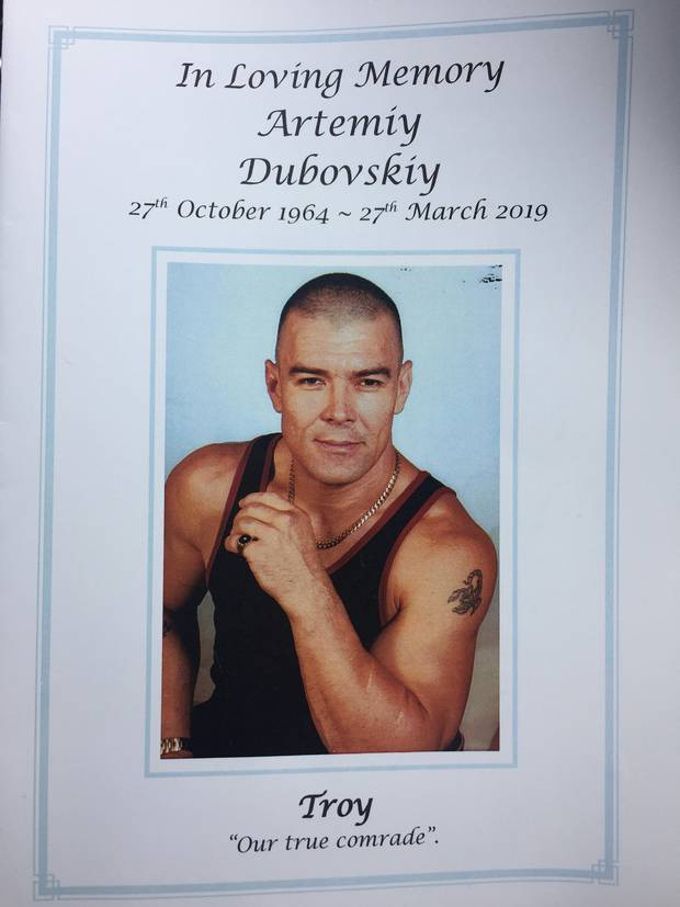 Artemiy 'Troy' Dubovskiy died following a stand off with police last week. Picture / supplied