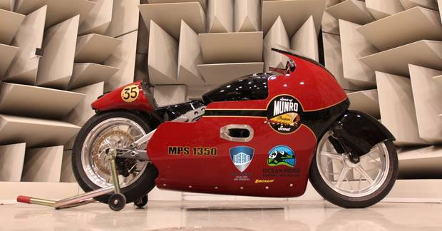 Burt Munro's great nephew will attempt to break the 200mph mark on the newly-modified Indian Scout dubbed 'Spirit of Munro'. Photo / Supplied