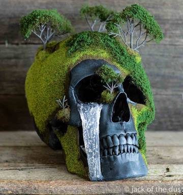 176ee901b30 Photo   via Jack of Jack of Dust s hobby of making artistic skulls has  blossomed. Photo   via Jack of