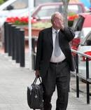 Lawyer Gerald McKay, 74, arriving at the Napier Court last year to face theft and dishonesty charges. Photo / Duncan Brown