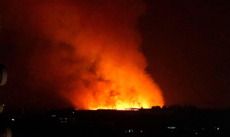 Smoke rises after an Israeli airstrike in Gaza. Photo / AP