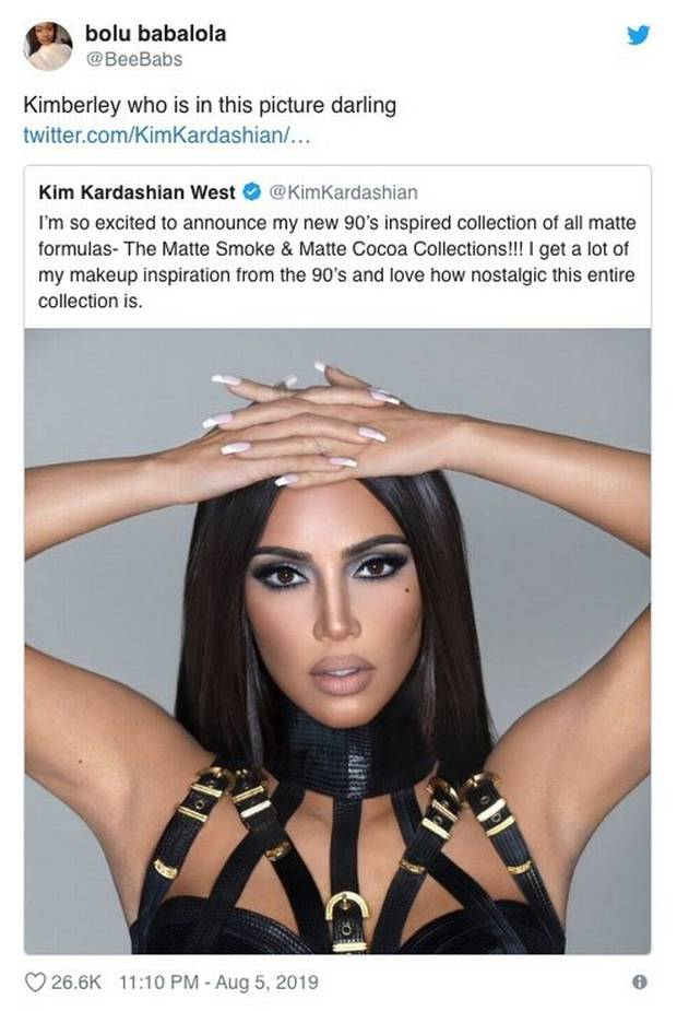 Kim Kardashian was called out for the selfie looking nothing like her. Photo / Instagram