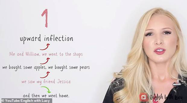 Upward inflection is when a sentence ends with a person raising their pitch. Photo / YouTube