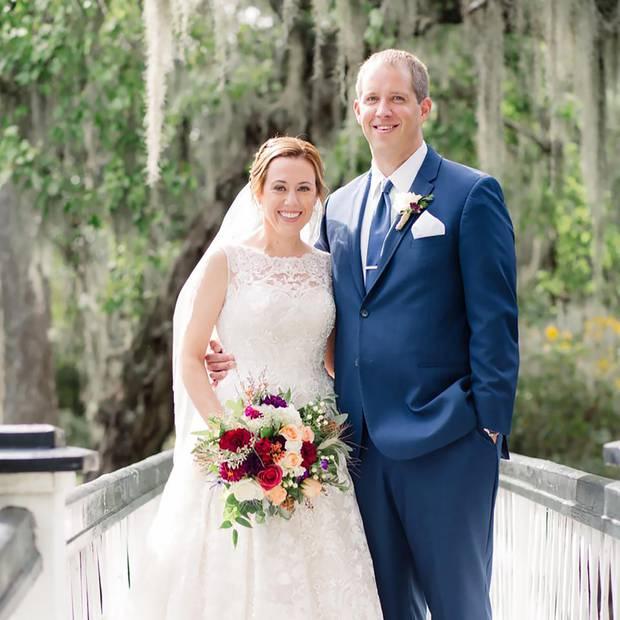 Lauren Urey and husband Matthew Urey on their wedding day.