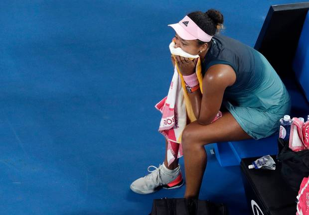 Japan's Naomi Osaka celebrates after defeating Petra Kvitova of the Czech Republic in the women's singles final at the Australian Open tennis championships. Photo / AP