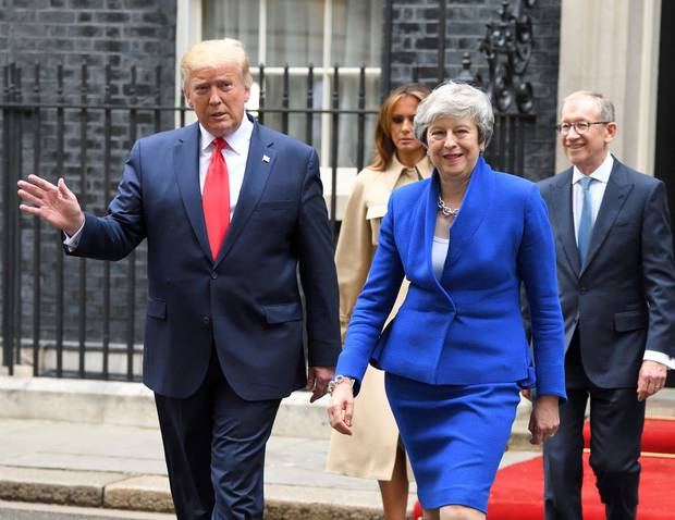 Theresa May is quoted to have said, on meeting President Trump: