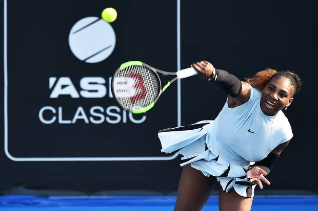 Serena Williams during the 2017 ASB Classic. Photo / Photosport