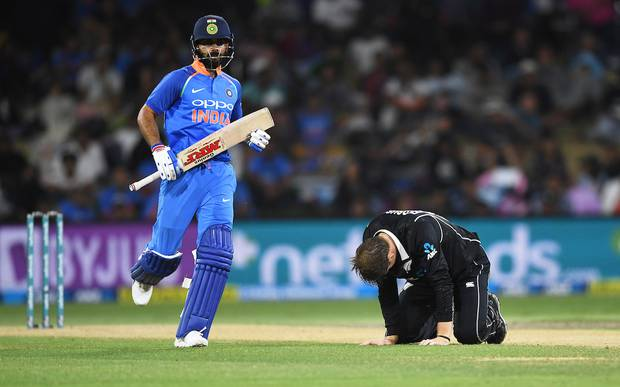 Virat Kohli has the potential to leave the Black Caps bowlers on their hands and knees. Photo / Photosport