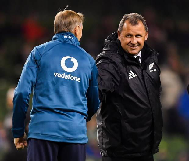 Joe Schmidt's announcement paves the way for Ian Foster to succeed Steve Hansen, should he step down. Photo / Getty