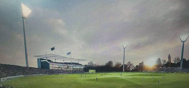 Proposed image of the National Cricket Ground at Western Springs in Auckland.
