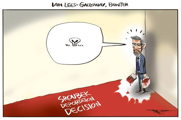 Herald cartoonist Rod Emmerson's take on the Sroubek decision.