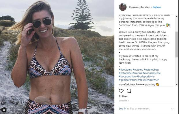 Kate's Instagram shows her living life to the full, despite her illness.