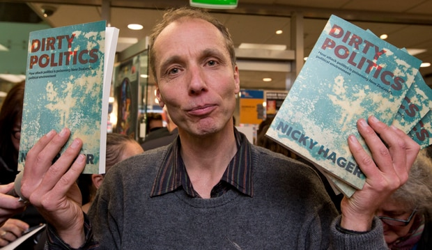 Author Nicky Hager, who investigated the Whaleoil blog for the 2014 book Dirty Politics. Photo / Mark Mitchell