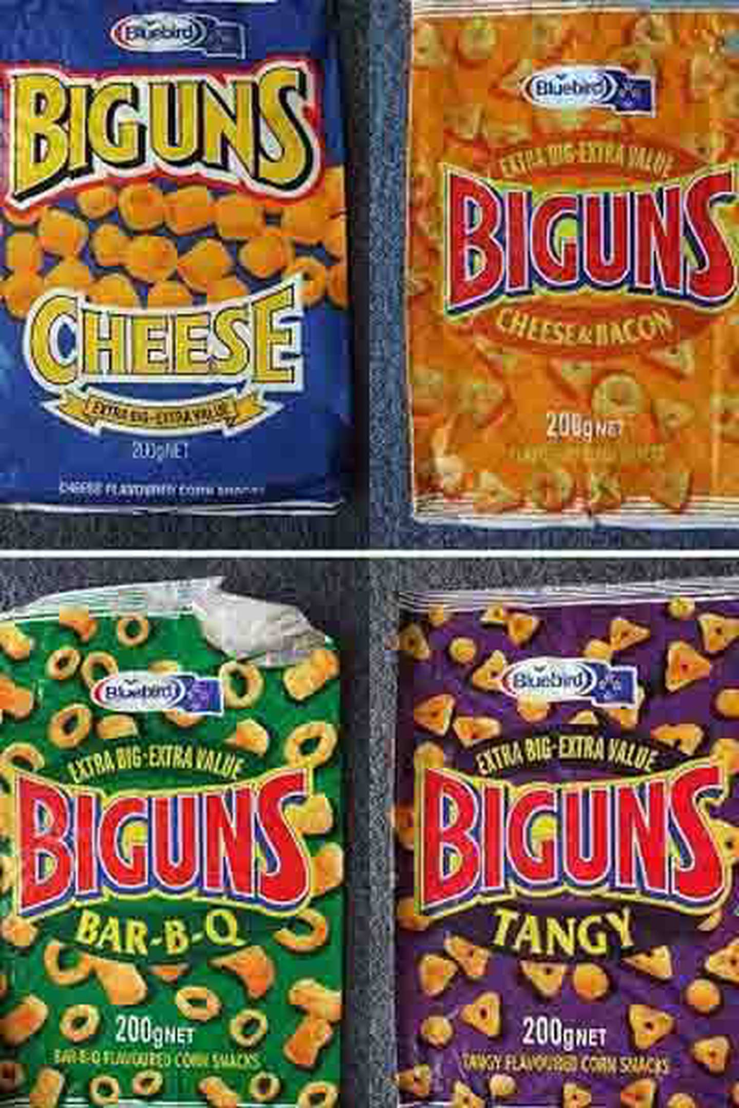 Biguns came in four different flavours and was a staple item on every kids' sleepover menu. Photo / Facebook