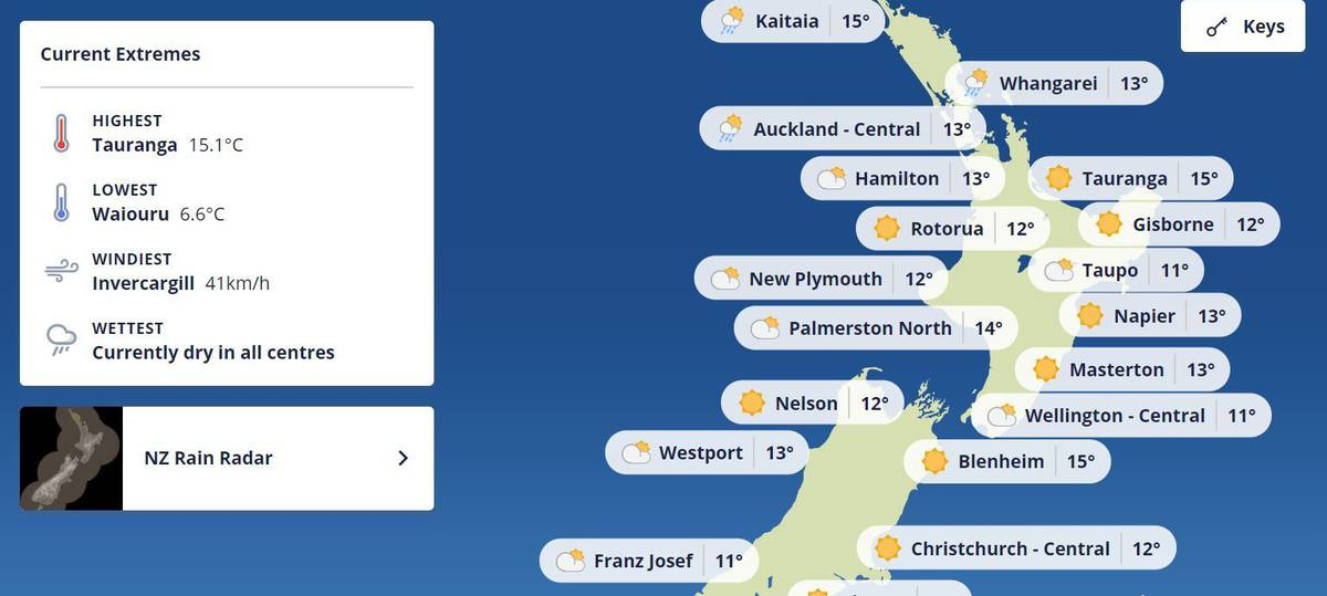 'Put us on the map': Hastings mayor fumes as MetService removes city from weather map