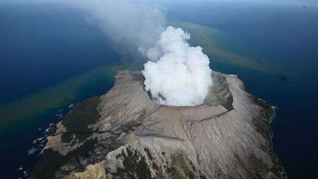 White Island Aerial view after the volcanic eruption. Photo / George Novak