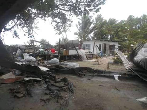 Damage reportedly caused by Cyclone Tino in Tuvalu. Photo / Pacifica Weather and Tropical Cyclone Updates
