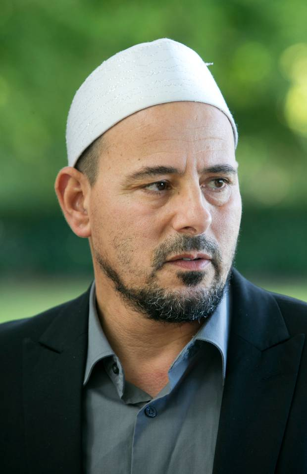 Al Noor Mosque Imam Gamal Fouda pictured outside the mosque in Christchurch. Photo / Alan Gibson