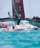 Oracle's boat builders have conceded the Kiwis have a better boat. Photo / Sander van der Borch