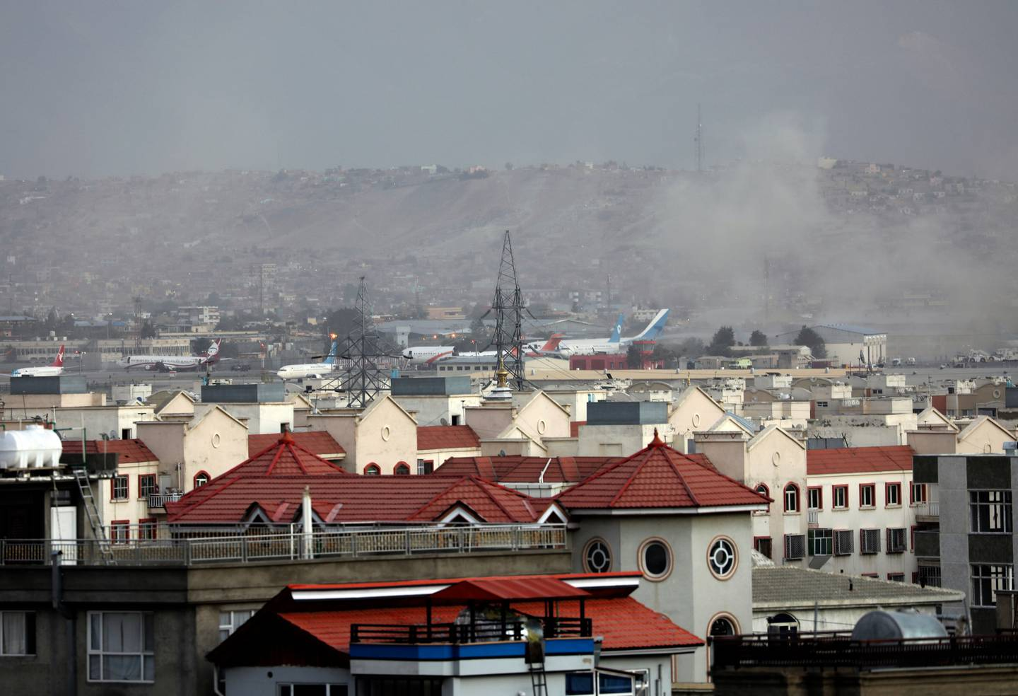 Two suicide bombers and gunmen have targeted crowds massing near the Kabul airport. Photo / Wali Sabawoon, AP