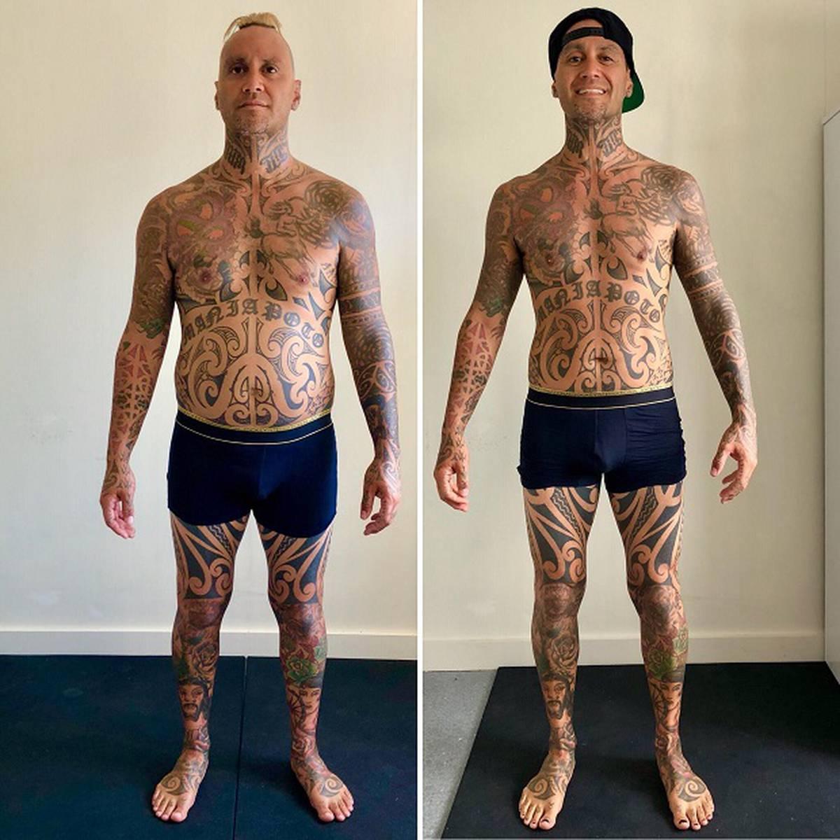 Tiki Taane's dramatic body makeover in just eight weeks stun