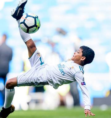 Cristiano Ronaldo's son scores four on his debut for