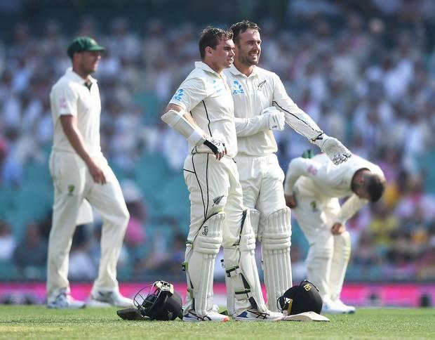 New Zealand's opening batsmen Tom Blundell and Tom Latham shone late on day two. Photo / Photosport