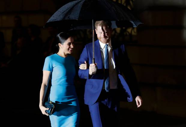 Brolly good show: Outside the Endeavour awards. Photo / AP