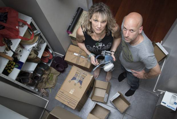 Married tenants Dana Cornes and Jonathan Van Campen moved out of their rental due to it being damp and mouldy. Photo: Nick Reed