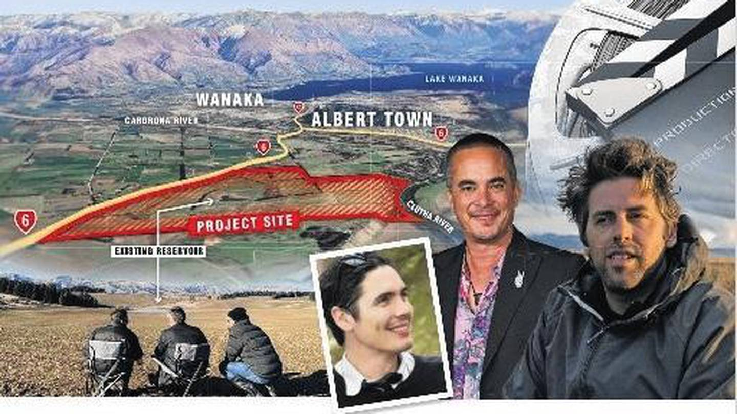 Corbridge Estates, Wanaka, has been bought by Silverlight Studios with a view to establishing a film park. Silverlight Studios team of Jonathan Harding, left, Ra Vincent and Mike Wallis. Photo / ODT