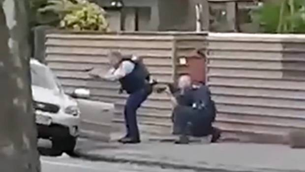 Tarrant was arrested by armed officers in a Christchurch street.