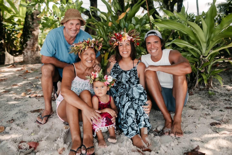 The MacLean-McMahon family (left to right): Steve, Anne, Are I Te Maiata, Kali and Luke. Photo / Charlotte Piho