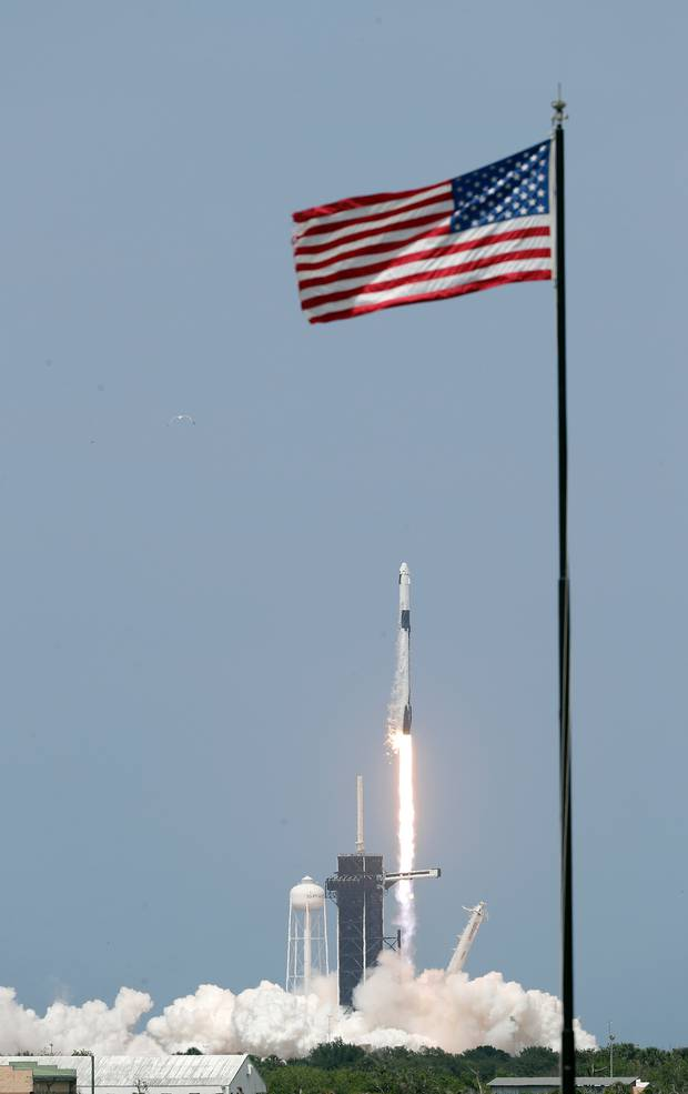 The successful launch ushers in a new era in commercial space travel. Photo / AP