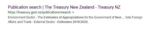 Screen grabs of Budget links from Google. Image/supplied