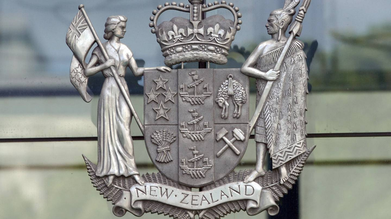 High Court coat of arms, Wellington, New Zealand. Photo / Ross Setford
