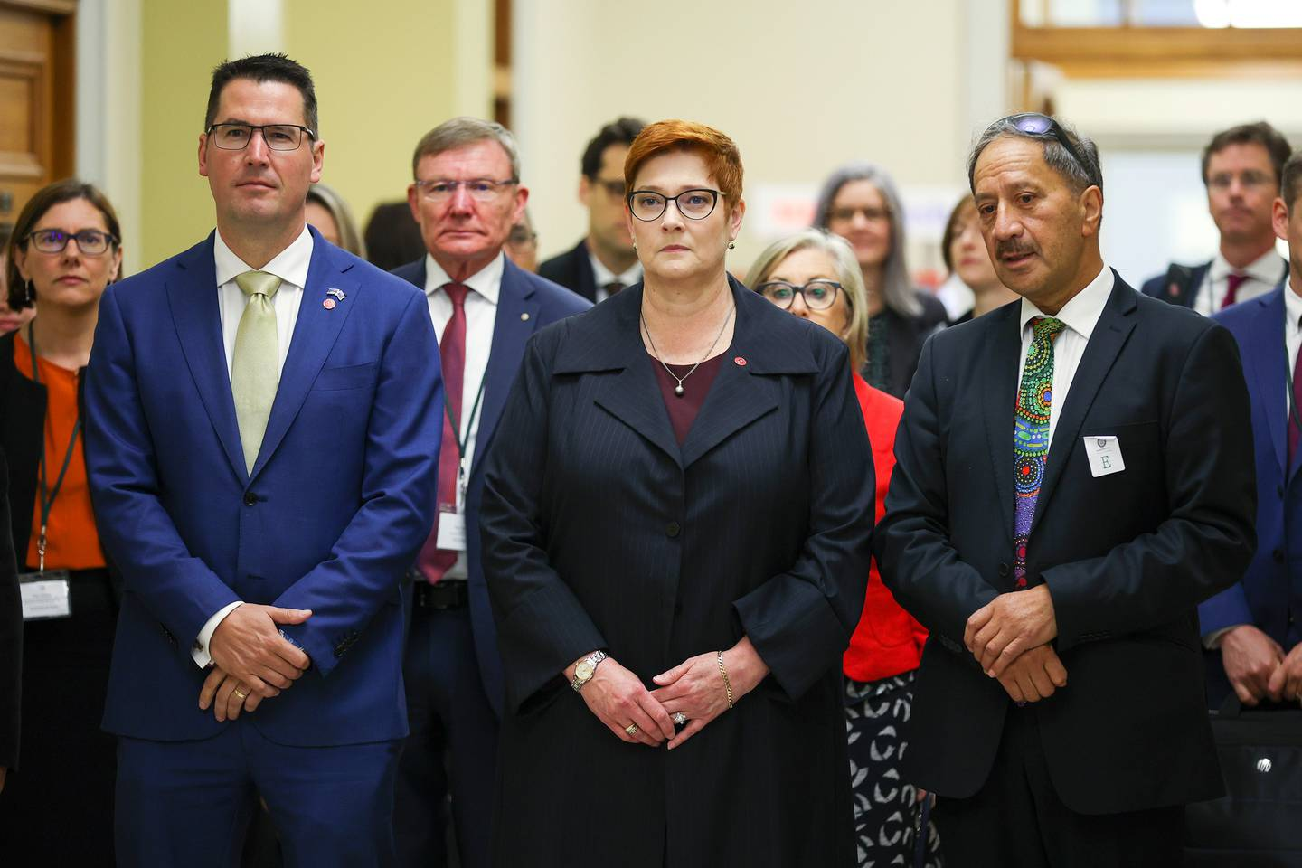 Australian Foreign Minister Marise Payne arrives at Parliament. Photo / Getty Images
