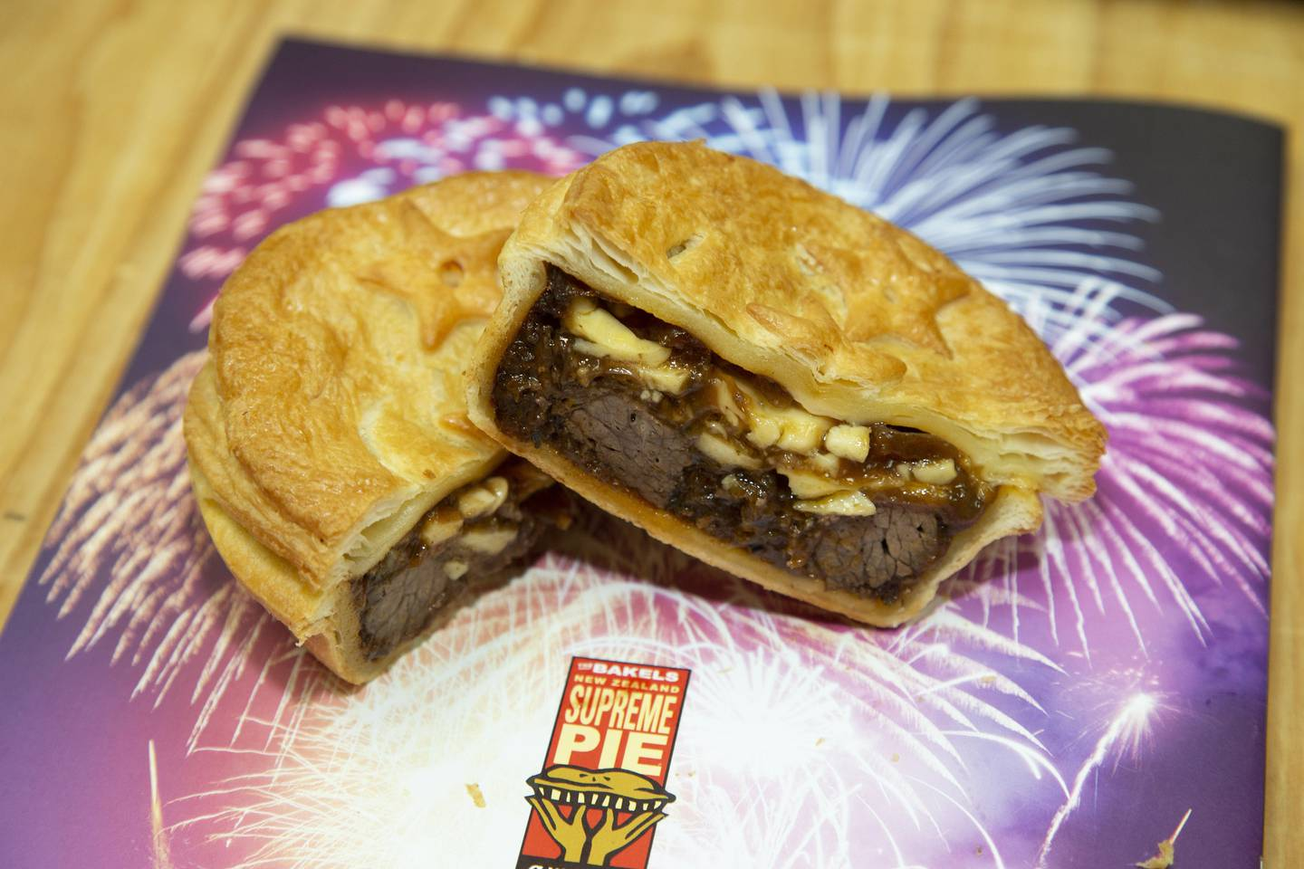 Auckland baker Sopheap Long's steak and cheese pie. Photo / Supplied
