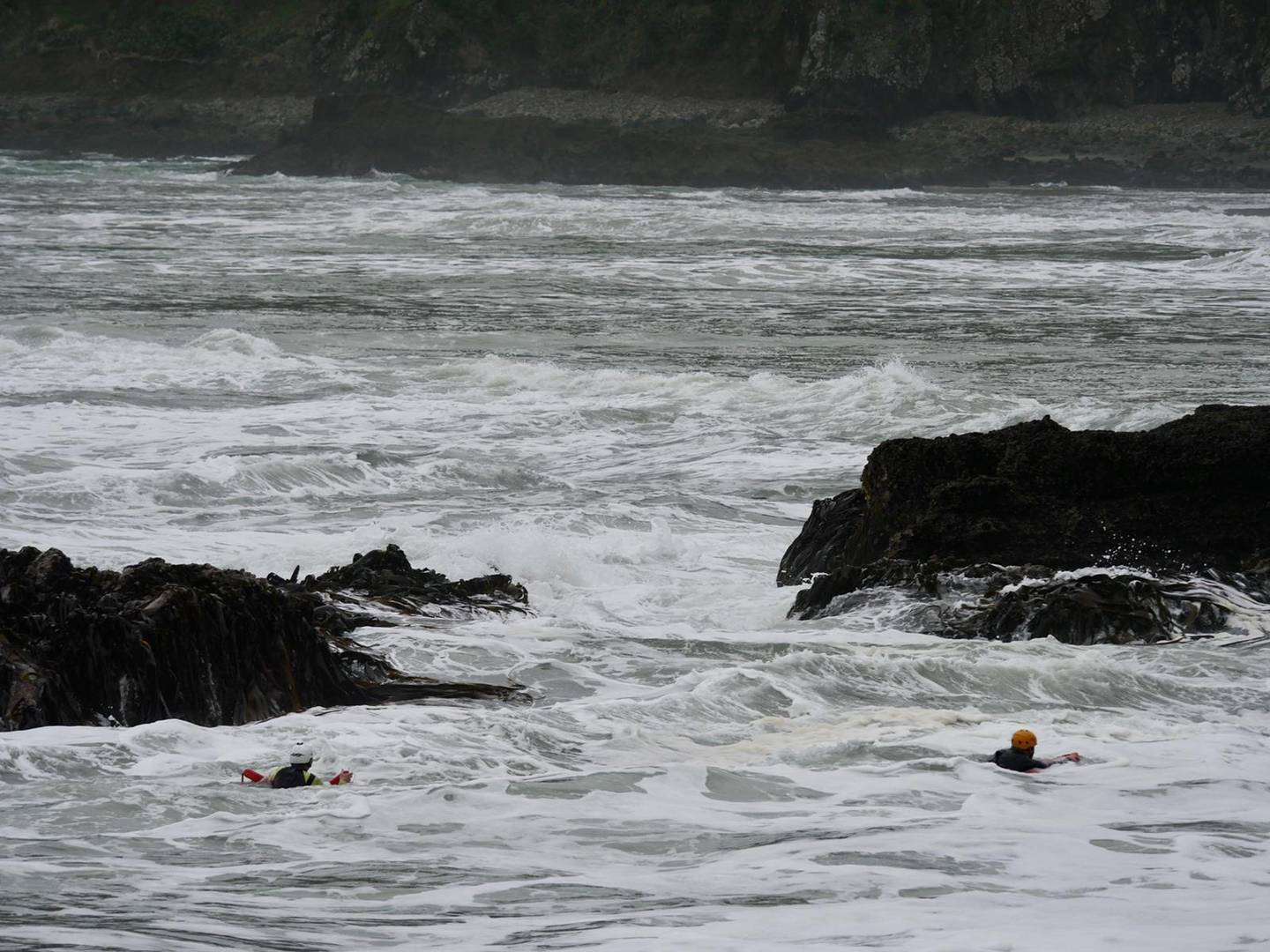 Surf Life Saving personnel search for a missing person at O'Neills Bay. Photo / Surf Life Saving Northern Region
