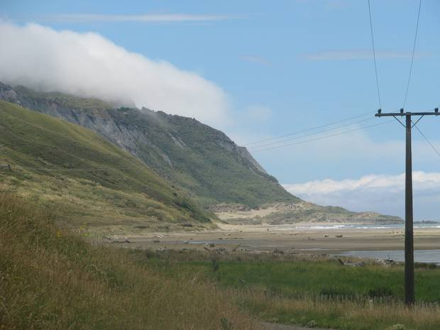Cape Turnagain, where a wind gust on Sunday hit close to 200km/h.