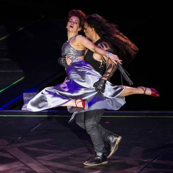 Helen English and Wetini Mitai-Ngatai. Dancing with the Stars. 28 July 2018 Daily Post photograph by Stephen Parker