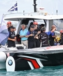 Team New Zealand are selling three chase boats on a Bermuda website. Photosport