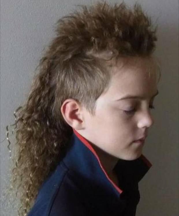 Baird Garrett wants to donate his hair to be made into wigs. Photo / Renee Garrett