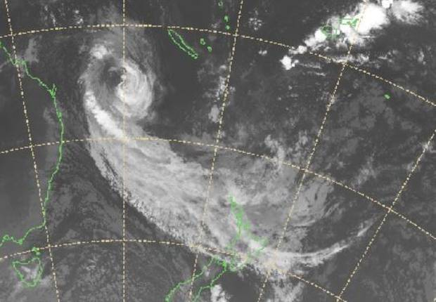 The Tail Of Tropical Cyclone Oma Is Set To Lash New Zealand Today As This Satellite