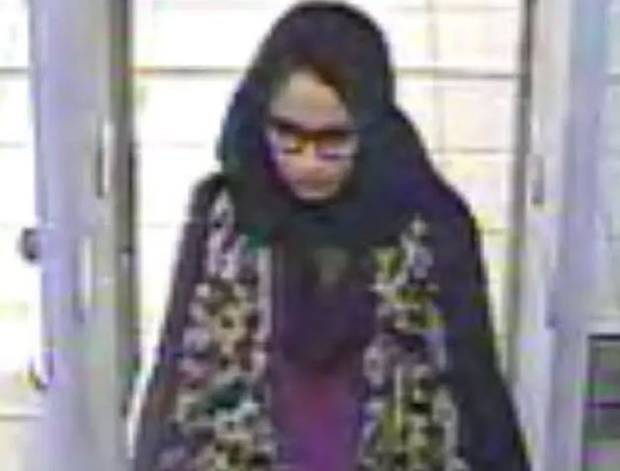 CCTV footage of Shamima Begum when she fled the UK to marry an Isis militant in 2015. Photo / Metropolitan Police