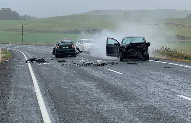 The head-on crash on State Highway 1 near Waiouru claimed a baby's life and left seven others injured. Photo / Supplied