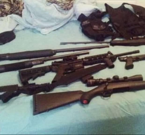 Cruz's arsenal of weapons, as shown on his Instagram account.