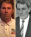 Antony Shaw v John Banks. Picture on the left is of Antony Shaw, who says John Banks (right, pictured in 1991) is his biological father. Photos / Supplied / Herald file
