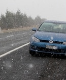 Snow falling on the Desert Road just south of Turangi on 9 July. Photo: David Kerr