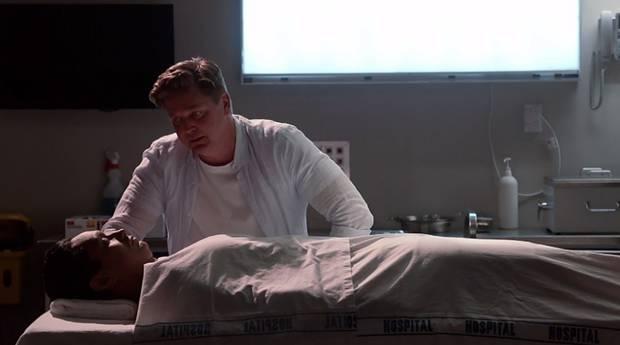 Chris Warner visits the body of his former love-rival Mo Hannah.