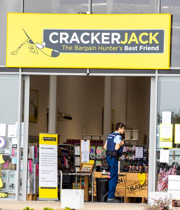 Crackerjack in Hamilton was open for walk-in customers this morning. Photo / Mike Scott